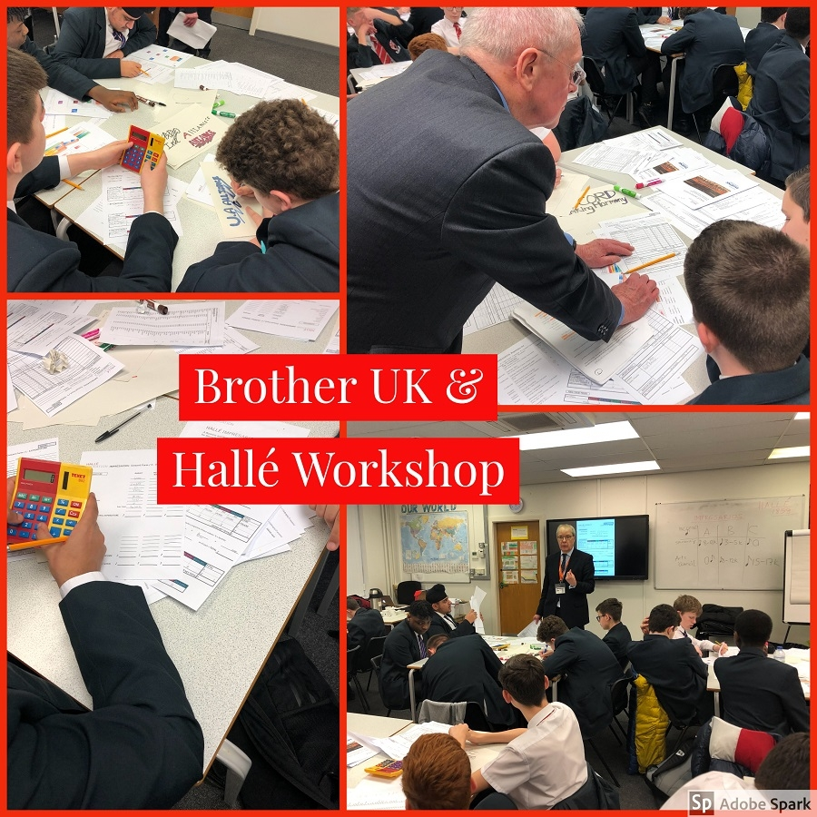 Workshop with Brother UK and Hallé Impresarios for Music and Enterprise students.